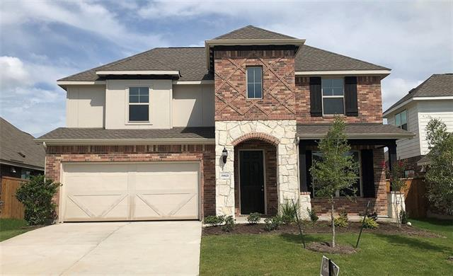 Two Story Rosewood plan with private study with french doors, master bedroom bay window, covered patio and more! Granite Countertops, Custom Tile Backsplash, Covered Back Patio, Full Sprinkler/Sod in Front & Rear Yards. See Agent for Details on Finish Out. Available April.