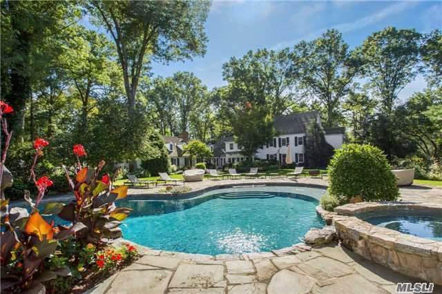 Old Westbury. Spectacular Historic Colonial Built In 1700'S Completely Updated And Renovated With New Guest House. In- Ground Heated Gunite Pool All On Nearly 4 Professionally Landscaped, Romantic Acres. The Beauty Of Yesturday With The Luxury Amenities Of Today!