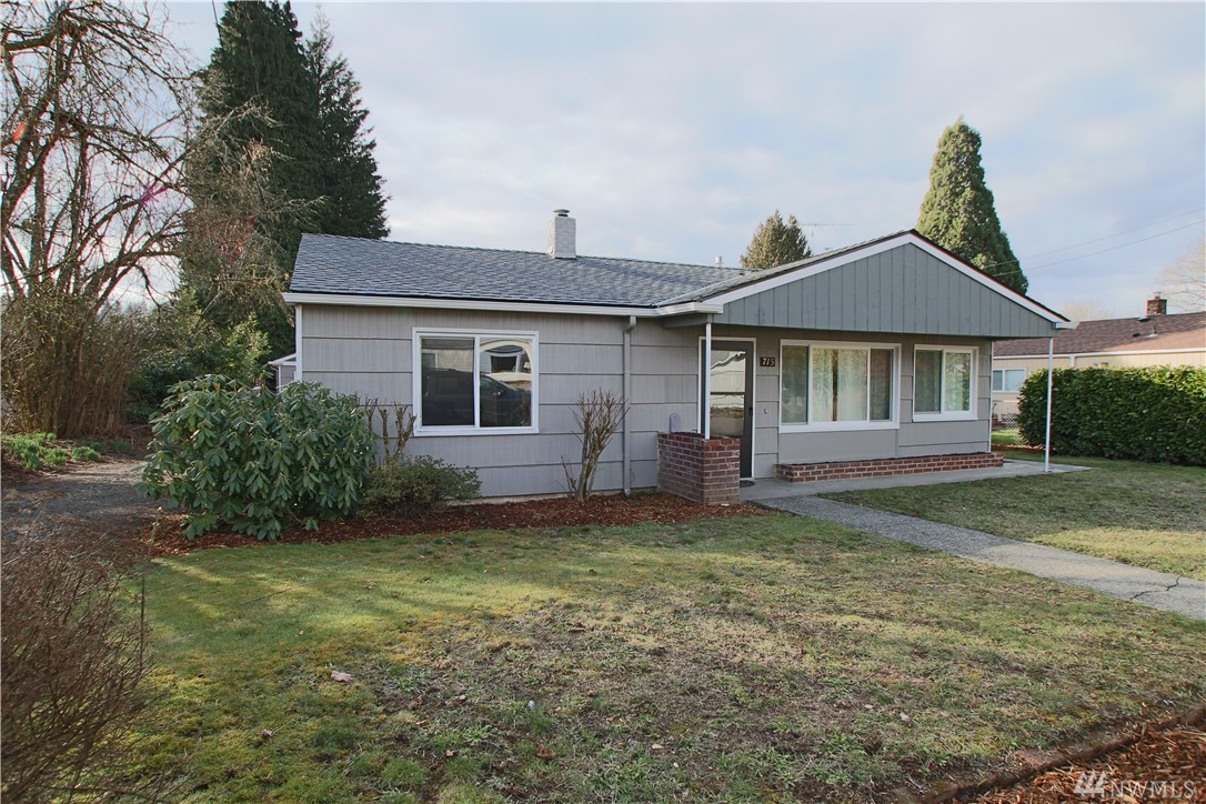 Super cute rambler on Tumwater Hill! Over 900 sf inside home, bright great room with lots of windows, kitchen includes all appliances, 2 bedrooms, 1 full bath. Updates include bathroom, vinyl windows and brand new roof! Fully fenced back yard with nice patio and detached 2 car garage has built-in shelving, work bench AND 400+/- SF fully finished and heated bonus room! Great location near I-5, shopping, parks and schools! Must See!!