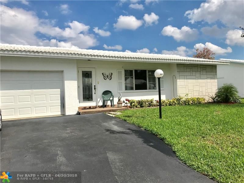 Awesome Lauderdale West! Great senior community with lots of activities and community areas. This home has updated baths, beautiful new floors, an additional (permitted) room off master bedroom, enclosed Florida room as well as a screened in porch. Open floor plan, newer stainless kitchen appliances, one car garage makes you feel like home. Pets are now allowed in Lauderdale West. Buyer must have credit score in the 700s and put at least 20% down. Easy to show but must call for appointment.