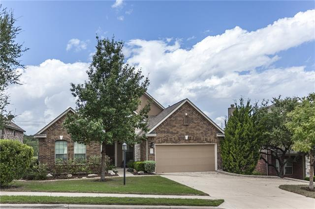 This open single story floor plan is great for entertaining that includes a covered front and back porch and private shaded backyard. Walk-in closets are featured in the secondary bedrooms with a fourth bedroom that can be used as an office situated away from the other rooms. High ceilings, vaulted ceiling in master, solar panels, and great storage space including two attic spaces and garage overhead rack. The home is near the end of a cul-de-sac and the community features a pool and secure workout room.