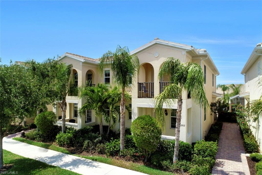 This is one of the best price with front waterview... It is a Dublon Townhome with 3 bedrooms and 3 baths. There are many upgrades including tile throughout the first floor, stainless kitchen appliances, 42 inches cabinets and many more... This is a great community with a resort style pool, lap pool, tennis court, basketball, pickle ball, fitness center and children play area. The Town Center included a post office, library, restaurant, gas station, car wash, hair salon, travel agency, ballroom and card room...