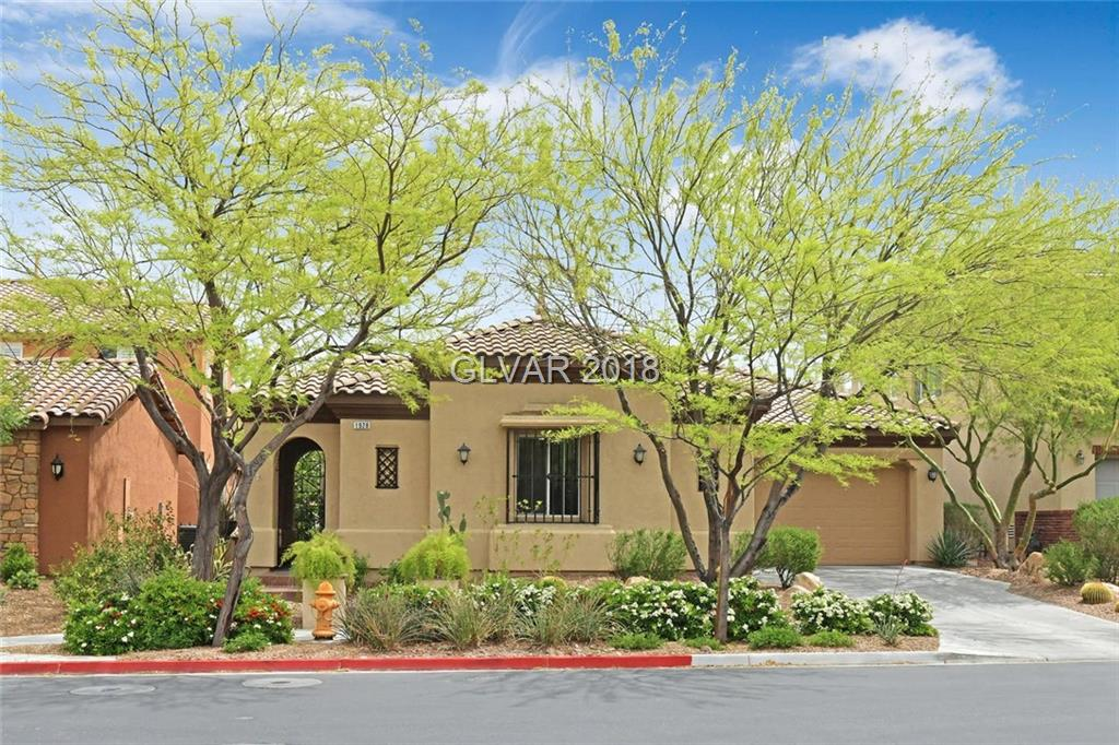 Stylish single story home in Inspirada!Backs on to walking trail*sep casita w/bathroom & walk-in closet*tile courtyard entry*inviting entryway*large, open great room w/FP*big dining space*kitchen w/lrg island,stainless upgraded appl,walk-in pantry*mstr sep from other beds w/organized closet*mstr bath w/sep tub & shw*2nd bed w/ceil fan & walk-in closet*yard w/flagstone, fountain, cozy patio*well cared for home*community pools & parks!