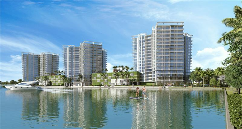 Pre-Construction. To be built. Designed by Kobi Karp, Marina Pointe will be a contemporary waterfront condominium tower in the heart of South Tampa's anticipated Westshore Marina District featuring a full-service deep-water marina, boat-up restaurants, a town center with market & café, parks and walking trails. Marina Pointe will offer residents 24/7 concierge services, a grand first level lobby boasting fresh flowers & coffee daily, a business center, and a high-tech golf simulator. 5th level amenities include a fitness center with dedicated yoga area, massage rooms, catering kitchen and entertaining space, grilling stations, fire pit, spa, and a 2,200 SF heated pool. A boater's paradise, as a Marina Pointe homeowner, you will have the opportunity to purchase a boat slip in the marina right outside your front door. Entering your home from your own private elevator foyer, your residence features 10' floor to ceiling glass windows, panoramic views, generous balconies with multiple-paneled sliders that completely retract expanding your interior space outside allowing you to be immersed in the spectacular sunsets and views. Kitchens offer Sub-zero and Wolf, including a state-of-the-art induction cook top. Standard selections include European-style soft-close cabinetry, porcelain tile flooring, and quartz countertop options. The bathrooms offer large modern soaking tubs, with expansive glass walk-in showers. Don't wait! Pre-construction pricing ending soon!