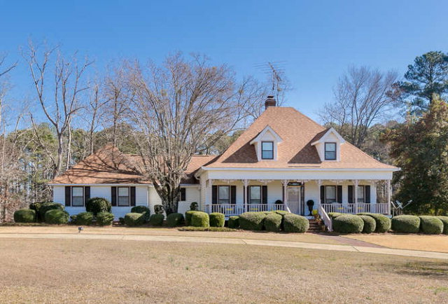 Must see home situated on 130.75 acres on Mesena Road. Nestled inside a long & winding driveway this home boasts 4 bedrooms, 3.5 bathrooms & 3,000 sqft of living space. Cozy great room & brick fireplace give guests a warm welcome. Formal dining room is accented by elegant built-ins & french doors leading to rear deck. Spacious kitchen features: granite countertops, center island, tons of cabinetry, updated appliances, wine rack, bar seating & breakfast area. Main level owner's suite w/walk-in closet, his/her sinks & tile walk-in shower. Guest suite, half bathroom & separate laundry room remains on main level. 2 additional bedrooms & 1 full bathroom on upper level. Multiple tier rear deck overlooking pond offers endless entertain possibilities! Outbuildings & covered areas provided ample storage space. Located in close proximity to town the rolling pasture land, 3 ponds, mature trees & breathtaking scenic views provide seclusion & tranquility. Make this your new getaway home today!!!