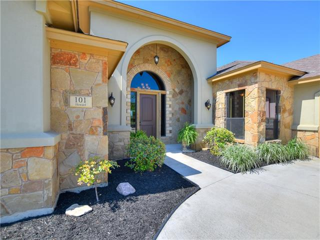 Custom home on 1 acre, private cul-de-sac w/stunning Hill Country views! Impressive Cantera Stone columns  & floor to ceiling stone fireplace creates a wonderful first impression that continues throughout the home. Gourmet chef's kitchen. Granite countertops,stone sided breakfast bar/island. Spacious Master Suite w/two huge master closets complete w/organizers. Triple crown molding. Over 20 established trees.No backyard neighbors. 6' stained cedar fencing.Wood blinds. Raised bed garden. Beautiful sunsets!