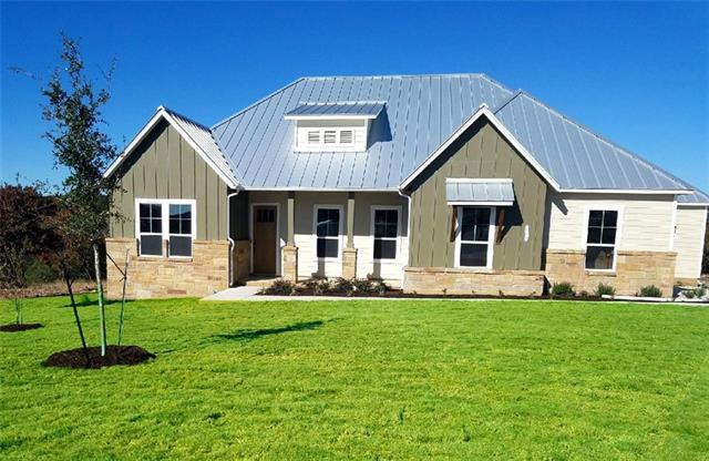 MLS# 8676731 - Built by Novak Brothers Texas Brownstones LLC - Ready Now!! ~ Beautiful 1 story, covered back porch, community stocked pond, backs up to Russell Nature Preserve, lake and hill country views...