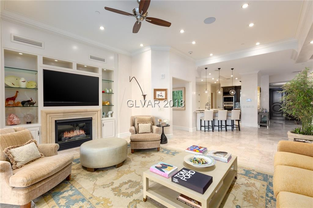 Prized Garden Level unit with a massive 4,000+ sq ft private patio/garden area and 1,000 sq ft casita. This is one of the most highly remodeled units in One Queensridge Place with over $750,000 of upgrades. If you ever wanted to live in a high-rise, but feel like your living in a single family home, this is your opportunity. Direct access from valet, without accessing an elevator. Own a one-of-a kind property, perfect for those with pets.