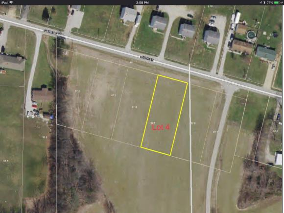 Lot # 4; Additional lots available; 1,2, & 3. City utilities available.
