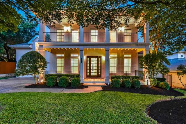 RARE FIND! Move-in Ready in River Place! Beautiful home that lends itself well from traditional to transitional*Stunning view of downtown*Pool*5/4.5 with Master Down + Game & Media Room (or Bed 6)*Neighborhood park, playscape & sport court*Riverplace Golf & Country Club*Outstanding Leander ISD*Don't miss seeing this one!