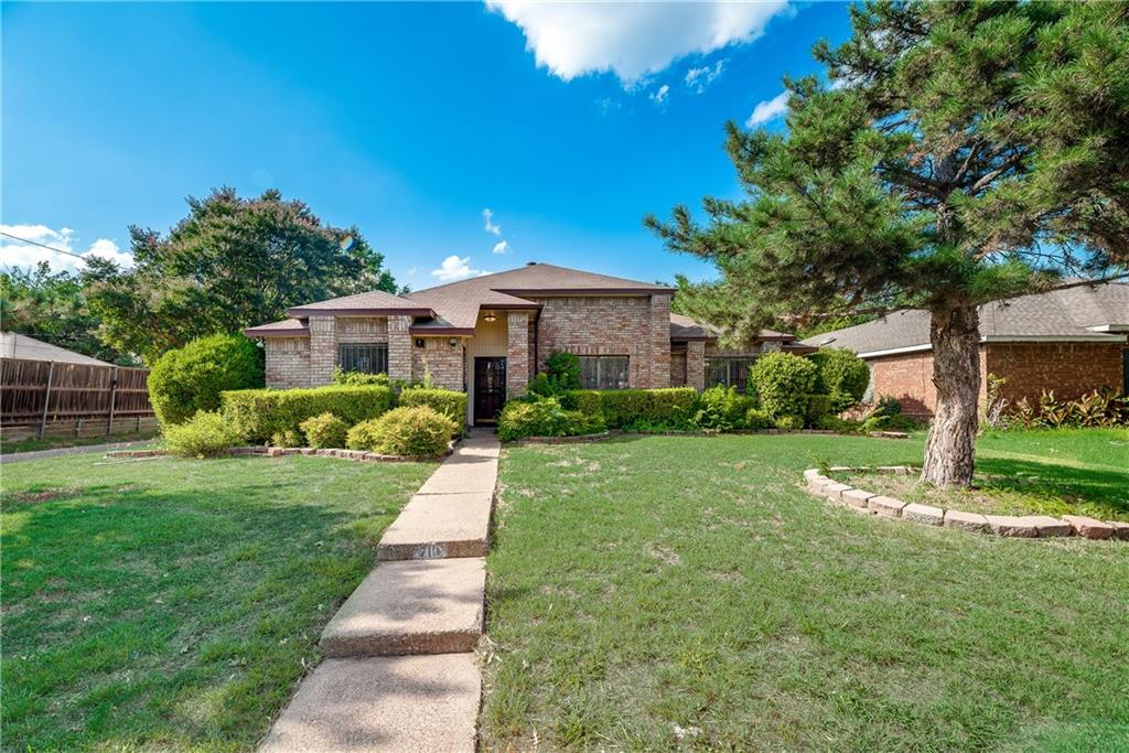 Lovely home with landscaping and mature trees.  Open floor plan, 3 bedrooms, 2 living areas, 2 dining area, 2 car garage.  Easy commute to downtown Dallas.  Situated on a corner lot. Measurements must be verified.