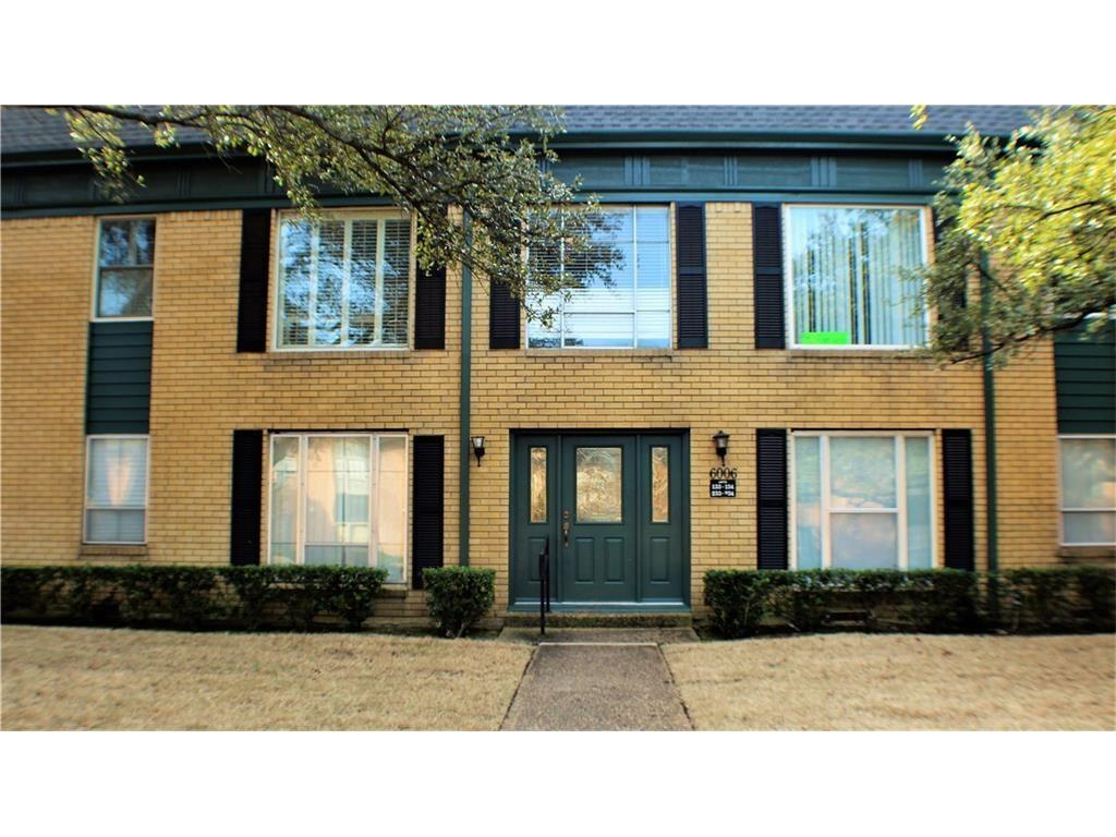 Location, location, location!! This spacious and well-maintained condo is within walking distance to SMU, restaurants, DART, grocery stores, etc.  Gated parking lot with access to covered parking and a pool.  Has 2 full living areas, separate dining room, and master bedroom has walk-in closet.  Don't miss out on this one!