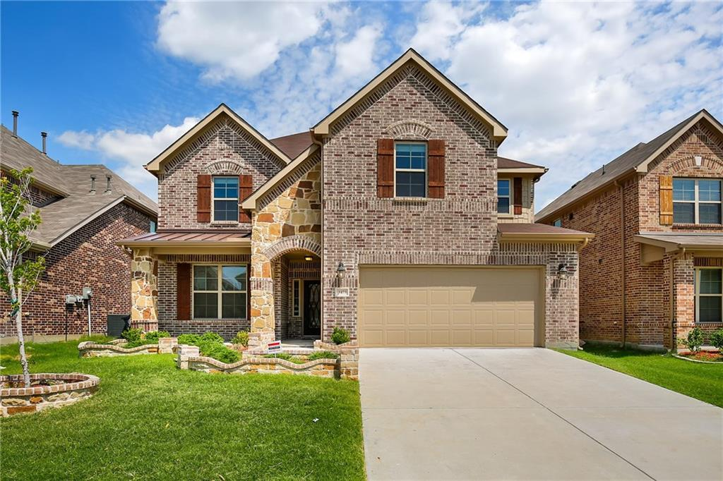 Stunning 4 bedroom in Frisco ISD! Over $60K in upgrades include wood flooring, crown molding, 5 in baseboards, whole house pre-wired for surround sound, and so much more! Spectacular island kitchen boasts upgraded maple cabinets with rope molding detail, double oven, 36 in gas cooktop, stainless steel vent hood, and granite counters. First floor features spacious master suite with spa like master bath, formal dining, open family room with vaulted ceiling and spectacular stone fireplace. The second floor layout includes a large game room, Media room includes ceiling mount speakers, 3 spacious bedrooms, and 2 full baths. Community features pools, playgrounds, and trails. Close to schools, shopping, dining & DNT.