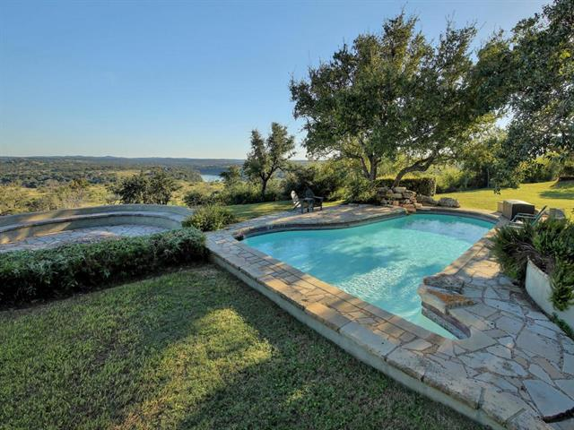 3 parcels comprise this +/- 88 acre crown jewel of the original Paleface Ranch. The home site sets perched atop a hill more than 200 feet above a deep bend in the Pedernales River + affords panoramic views for 360 degrees. Expansive oaks + native hardwoods + wildlife including deer, fox, turkey and ring-tail cats. 3 homes, cabin, horse stables + 5 wells. Access to communal boat ramp + waterfront park. Custom built ranch home includes an expansive veranda, swimming pool and firepit overlooking the river.