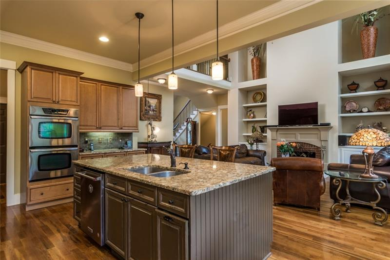 Updated Kitchen with granite and beautiful island.