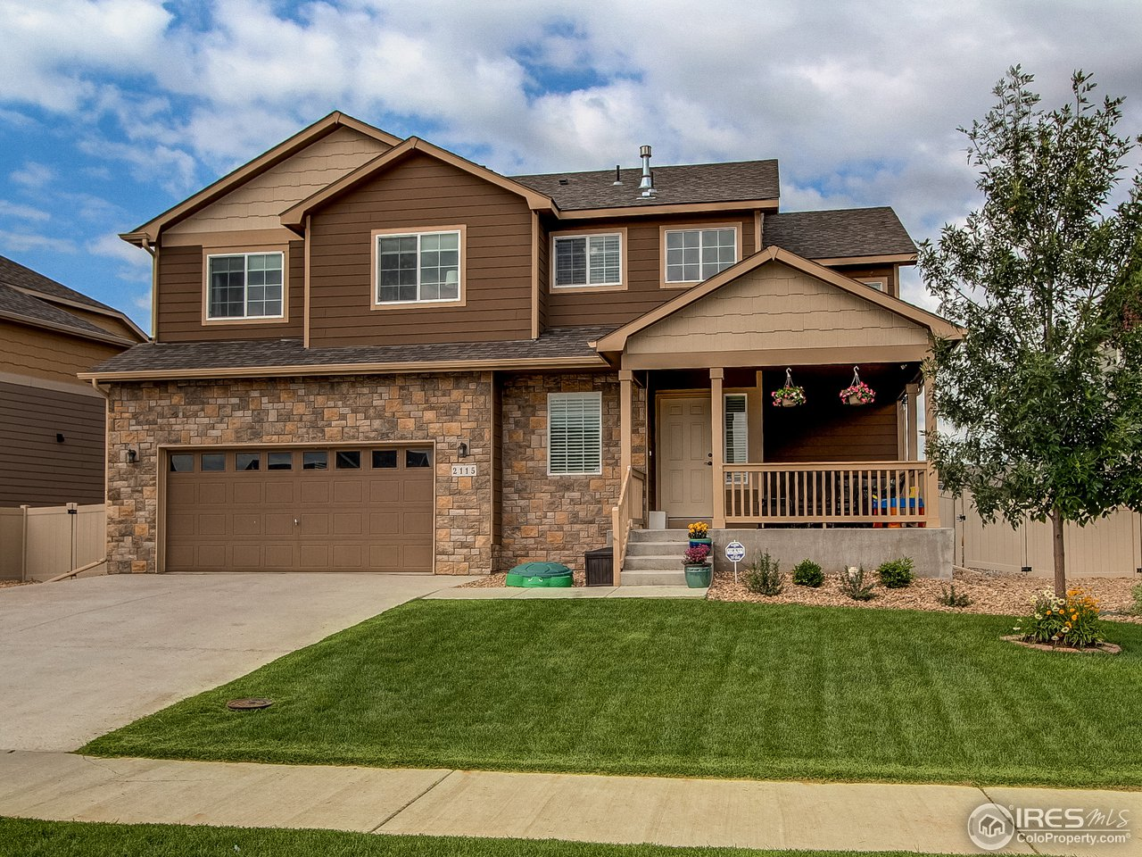 This beautiful home in Greeley is like new.  This 3 bed 3 bath home features a large open floor plan, wood floors, granite counter tops, upstairs laundry room,3 car tandem garage, Huge awesome backyard, large master walk-in closet and an unfinished basement are just some of what this house has to offer! Windsor Schools.