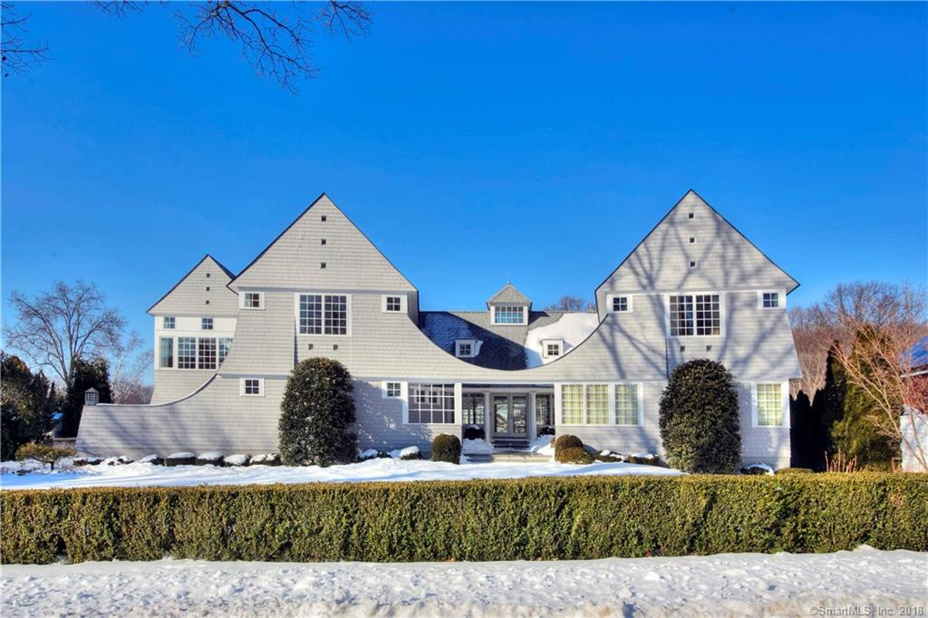 """Exceptional waterfront design in Covlee Association by leading architect Roger Bartels. This 2005 original home has been stunningly renovated in 2018. Roger has expanded this home for the current owners with a """"cool barn-like"""" steel beamed Artist Studio/Great Room/Gym/Office w/Loft filled with natural light and water views and balcony. Large open kitchen/family room w/fireplace sparkles with natural light/gorgeous water and Shorehaven views flowing to the outside, tiered stone patio for dining or watching the incredible birds and wildlife at waters edge. Master suite w/balcony natural light, fireplace, four large closets plus a huge walk-in closet/dressing room and spa bath complete this exceptional private haven.  Separate wing with 2 more sun-filled bedrooms/baths that offer privacy and comfort for living. Another office/study area here could be a used for a 3rd bedroom Just steps from Covlee's private beach/playground/w possible boat slip for extra charge…this is a unique opportunity to buy or rent this incredible residence Also for rent $8,400/mth"""