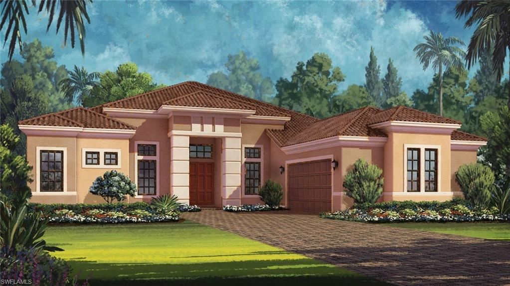 Under Construction - The Mercede is magnificent open plan with elegant features throughout the home. From the second you enter through the front door, explore the possibilities. Dream of entertaining guests as you walk into the open great room with sweeping views of an impressive outdoor lanai. Picture you and your guests dining in style in the formal dining room, grilling at the optional outdoor kitchen, having coffee in the breakfast nook, or cooking delicious meals in the modern, state-of-the-art, designer kitchen. The large master suite with a bay window features two walk-in closets, a soaking tub and luxurious shower. The Mercede is your perfect match for getting the most out of the fabulous Florida lifestyle. PHOTOS of MODEL Home. Ready in November.