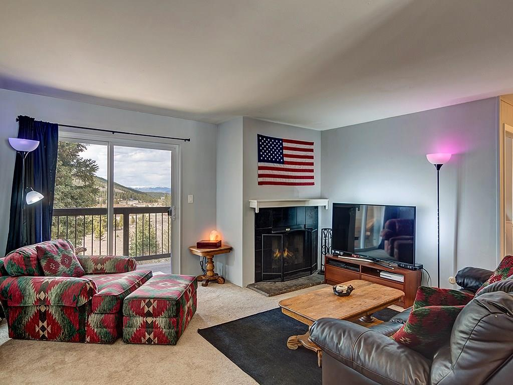 Peaceful and quiet location just minutes to Breckenridge. Immaculate unit. Mountain and valley views from your private balcony. Wood burning fireplace. Close to Quandary Mountain, National Forest and hiking trails as well as recreation & fishing rights on the Goose Pasture Tarn. Wood burning fireplace (natural gas in place to convert if desired). On-site hot tub. On Summit Stage Shuttle Route. Lease with current tenants through 10/31/2018 to be passed on to new owners.