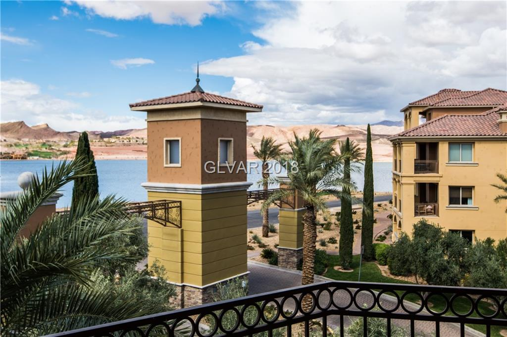 Luxury open floor plan condo with water & mountain views! Located in the guard gated community of SouthShore at Lake Las Vegas. Custom upgrades with den that can be converted to 3rd Bedroom. Two covered balconies off the great room & master plus a front courtyard serve as your modern day backyard & porch. Within mins of dining, grocery, golf, & Lake Mead; your options for outdoor activities are extensive yet you're only 30 mins from the strip.