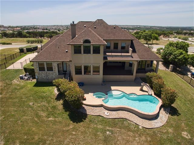 BEAUTIFUL CUSTOM HOME WITH POOL ON 2+ ACRE LOT WITH PANORAMIC HILL COUNTRY VIEWS! Gated Driveway w/3 Car Garage ~ Pool/Spa Just Re-Plastered ~ New Carpet ~ Game/Office/Media/Formal Dining ~ HUGE Master Closet ~ Tons of Storage ~ Walk-In Pantry ~ Pool Bath w/Ext Door ~ Built-In Grill/Kitchen on Patio ~ Fenced Back Yard ~ Sprinkler System ~ Water Softener ~ Balcony Off Game ~ Large Covered Patio ~ Wet Bar Off Game/Media ~ Built-In Shelving - MAKE SURE TO SEARCH YOUTUBE FOR HD VIDEO TOUR!!