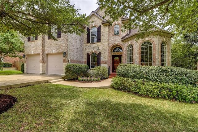 Beautiful French inspired dream home. Traditional features w/plenty of space for family & friends. Installed 2018, roof tiles,  tile wood plank floors, granite counters & stainless appliances in kitchen, freshly painted downstairs & main areas and all the trim outside. Open floor plan, beautiful floor to ceiling window in family room with featured fireplace. Game room & office are a bonus. Enjoy beautiful mature oak trees throughout the property. Excellent schools, amenities, location. Welcome Home!