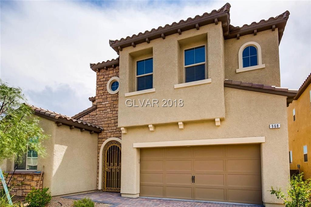 Beautiful like brand new 2 story house in guard gated Golf Course community. Club house has many amenities for homeowners use free of charge including fully equipped Gym, basket ball court, sliding water park and pool for kids and lap pool, Jacuzzis, yoga room, sauna room etc. Best location in southwest adjacent to I-215 and grocery stores such as Vons and Glazier's certified best in town. Walking distance high school.