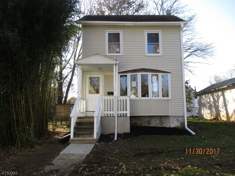 Totally renovated Colonial home with 3 bedrooms one is a railroad style need to go into one bedroom to access the other, 1 bath, living room, playroom/office. Close to all amenities and commuting