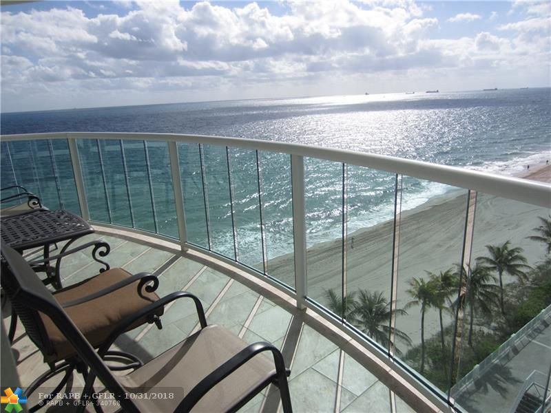 Views, views, views! Sunny, east/southeast facing  spectacular ocean & beach views from every room in this rarely available oceanfront apartment in one of the nicest buildings on the beach in east Fort Lauderdale. Beautiful, open & airy updated kitchen has custom cabinets & top of the line stainless appliances. The baths have been updated. No popcorn ceilings! Washer/dryer in the apartment. This apartment has been converted from a 2 bedroom to a 3 bedroom. New pool deck & tennis court, gyms, 24/7 security