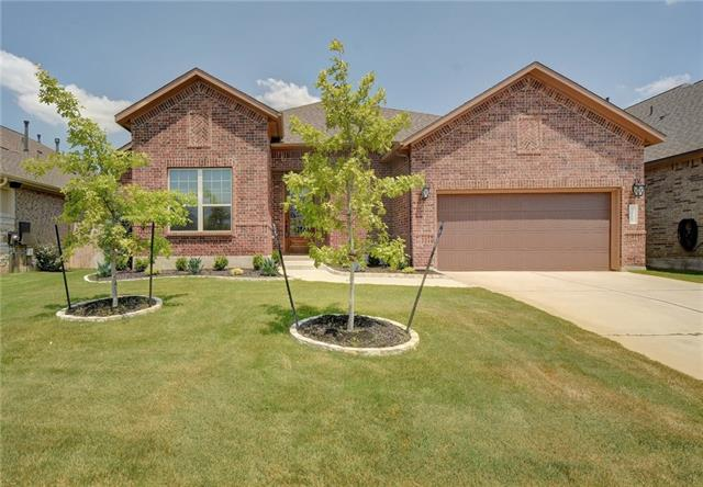 New Price, Move-In-Ready - Single Story Home in the convenience of Caballo Ranch! Contemporary Executive-Style 4-Sided Brick. Open concept floor plan, spacious kitchen w/huge center island+SS appliances, office/flex room, formal dining area, lots of natural light, solid flooring throughout most of home & master. Over-sized master suite boasts vaulted ceilings & luxurious bath. Cookout & entertain on the expansive covered patio & enjoy the yard w/your family & friends! Nearby the community pool & park.