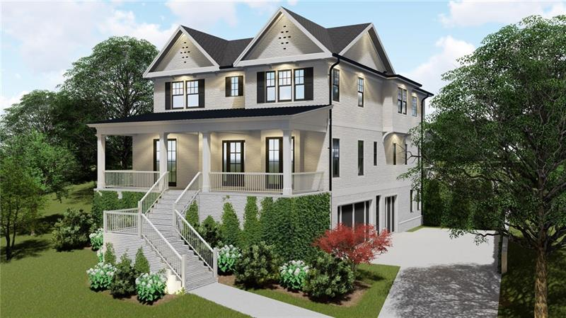 NEW CONSTRUCTION In PEACHTREE BATTLE BUCKHEAD! This Luxury home boasts the most popular and modern floor plan. Be the first to enjoy gleaming hardwood floors, a fresh gourmet kitchen, bedroom on the main floor, professional landscaping, and a three car garage. Perched high on its lot with a view of the neighborhood, the front porch is perfect for enjoying a sweet tea with the family and the back deck is designed for indoor/outdoor entertaining. Enjoy the benefits of living in Buckhead; walking distance to Atlanta Memorial Park, minutes from I-75 and Downtown!