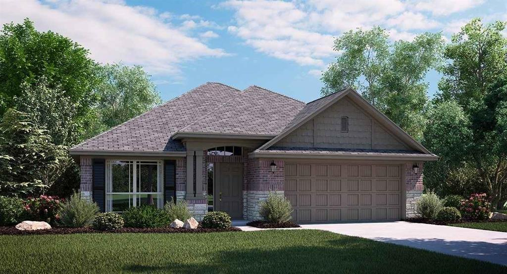 THIS HOME WILL BE COMPLETE BY END OF JULY 2018. NEW LENNAR 3 bed with 2 bath 1 story with formal dining, covered patio & fireplace. Brick & stone exterior. Includes stainless GE appl pkg, 2in. faux wood blinds, granite counter tops, upgraded woodlook tile throughout. Energy features include radiant barrier & programmable TStat. WiFi Certified Smart Home powered by Amazon Alexa! This home complete July 26, 2018!!