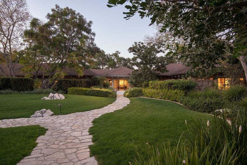 """Buena Vista Farms, a sense of life and nature through landscape and animals. The main residence consists of 7,790 SF, 3BR/3+2BA single story, a detached 1,933 SF 2BR/4BA guesthouse, a detached 902 SF spa/exercise pavilion, pool, regulation tennis court. The Equestrian facilities feature: six-stall stable, agricultural building (truck/trailer storage), European walker, grass pastures. See Supplement.""""Buena Vista Farms"""", a tranquil, gracious and private oasis with a sense of life and nature.  Designed and built on a raised plot of land on 15.65 Covenant acres with commanding views and overlooking the largest estates of Rancho Santa Fe. The gated entry, and private meandering driveway is flanked with native California pepper trees leading to an architectural gem with exquisite gardens, lemon and olive groves and state of the art horse facilities. The circular motor court showcases a beautiful single story residence created by the renowned designer Ken Ronchetti and constructed by custom home builder Weir Bros..  A recent renovation by San Francisco based designer Paul Wiseman, present an impeccable sophisticated yet casual ambiance, a perfect blend to accommodate the owners indoor outdoor entertaining needs.  Custom entry bronze encased glass doors lead to the main residence foyer featuring large wall space for showcasing art and two long gallerias leading to separated wings of the house. Interior walls are venetian plaster, the flooring is wide plank and distressed antique white oak and custom bronze windows and doors are featured as well as custom designed bronze interior and exterior sconces. The living room is spacious with 16.8 foot high ceiling showcasing antique oak beams, floor to ceiling Palos Verdes stone fireplace with custom designed iron and bronze screen.  Beautiful views—""""Buena Vistas""""--are prominent throughout the living room, European country-style dining room and the handsome library of ultra-suede walls, with extensive bookcases. The state of the art"""