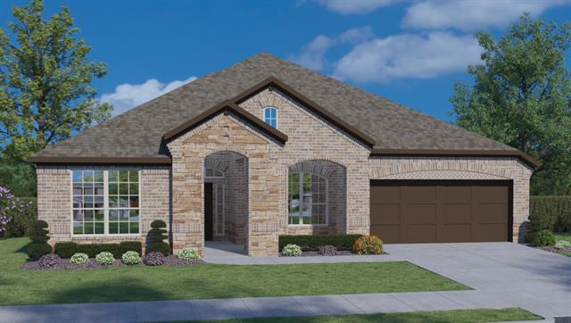 """UNDER CONSTRUCTION - ESTIMATED COMPLETION IN AUG 2018. THIS ROTHKO PLAN HAS A BEAUTIFUL BRICK AND STONE EXTERIOR AS YOU PULL IN THE DRIVEWAY OF YOUR 3 CAR GARAGE!  JUST A FEW HOUSES DOWN FROM OUR FANTASTIC AMENITY CENTER FEATURING A POOL, SPLASH PAD AND WORKOUT FACILITY.  WOOD FLOORS AND 42"""" WHITE CABINETS GIVE THE KITCHEN A GREAT FEEL SURROUNDING THE CENTER ISLAND.  THE GIANT WALK IN PANTRY AND COVERED PATIO ARE A FEW MORE INCREDIBLE FEATURES IN THIS BRAND NEW HOME!"""