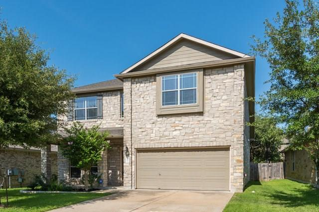 Beautiful 2-story stone house in Ranch at Brushy Creek, (Facing East) near Brushy Creek Park Round Rock ISD. Gorgeous backyard with mature trees and covered patio.Open kitchen with unique stone accent over stovetop range & granite kitchen countertops. Master bdrm downstairs with hardwoods. Mstr bath has separate tub & shower. Formal dining area with hardwoods & brkst area off kitchen. Flexible 2nd living upstairs can be used as play/game room. Many neighborhood amenities. Move in Ready!   *Owner/Agent*