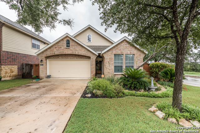 Meticulously cared for single story 3/2 home located in beautiful Bella Vista subdivision outside FM 1604 off Potranco Rd. Open floor plan featuring wood, travertine tile and laminate-no carpet, split master bedroom & master bath with whirlpool tub and separate shower. Corner lot/cul-de-sac with inviting backyard with covered and uncovered patio & mature trees. only 3 Blocks from Elementary School Ralph Langley. Subdivision has a  Pool and jogging trails.