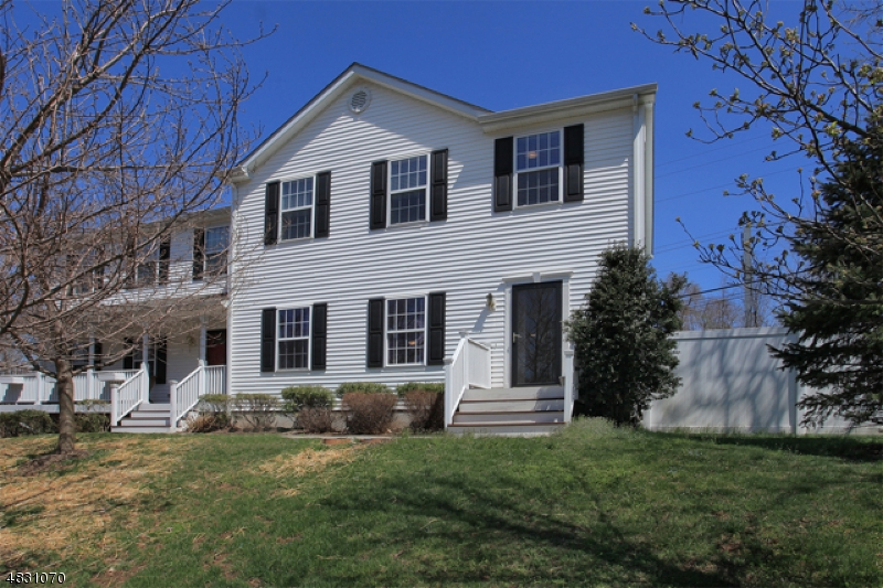 Great Opportunity to Live in Far Hills! Close to route 202, trains, shopping & parks.(2002) built 3 bedrm, 2.5 bath Colonial Townhome (right side) of two unit townhouse complex. (Hardwood flooring newly refinished), kitchen (new dishwasher) w/breakfast area and slider to spacious fenced side yard, living rm-dining rm, pristinely maintained with basement office nook & 1 car attached garage. NO SMOKERS, NO PETS, LANDLORD pays ASSN Dues includes Building Insurance, Landscaping, Lawn maintenance, Garbage, Pest Control annually, Annual gutter cleaning. Tenant responsible for snow removal (6