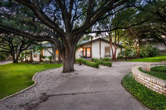 0.39 acres on quiet cul-de-sac; midcentury, brick ranch house; Casis school district. 3 bedrooms plus study that can easily be converted into 4th bedroom.  2 centralized living areas, 1 of which opens to the kitchen.  Master suite on 1 side of the house while secondary bedrooms are located on other.  Pool unites all areas and is visible from multiple rooms.  Mature trees and landscaping provide shade.  Meticulously maintained by 1 family for over 40 years.  Move in today or customize into a dream home.