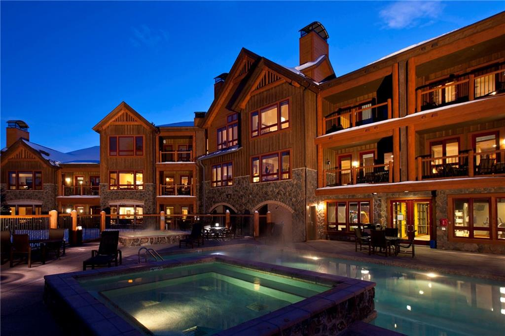 Big View of Ski Area. European Alpine Elegance. True Ski-In/Lift-out. Quiet neighborhood. High-end finishes & furnishings. Wood floors. Slate entry. Big windows & deck. 3 Blocks to Main Street. Lift to Peak 8 on site. 24 hr front desk. Spectacular pool w/ 3 large hot tubs. Assigned heated parking space w/ 8'x10' storage unit. Kids game room, Private gym, Steam rooms. On-site Spa & Ski Shop. Valet & ski storage. Private Shuttle. Scenic hiking trail on Sawmill Creek to mountain lake & ski area.