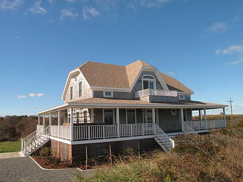 A rare find! Experience vacation living everyday in this newly constructed 3 bedroom, 3 bath home with a kitchen and decks made for entertainment. Classic elements alongside high quality features reveal a home designed with attention to detail and craftsmanship. This coveted Corn Neck Road location is just steps from the Atlantic Ocean and Block Island's best stretch of sandy beach and a short jaunt to town. Enjoy access to Harbor Pond, a gateway to Great Salt Pond and the ocean beyond.