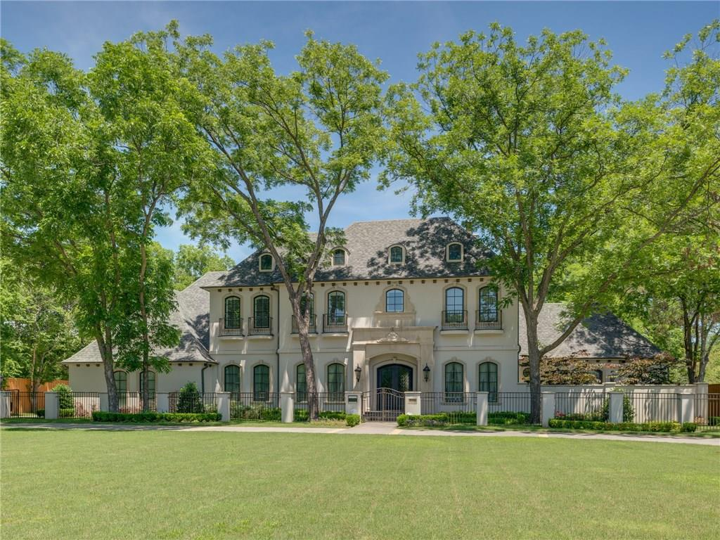 Compelling price for lovely French designed home in the heart of Dallas at Inwood Road Estates. Sweeping grounds of .79 acres. Sophisticated for entertaining as well as family friendly. P&B construction with 6 true beds, 6 full baths, 2 powder baths. Elevator. Media room conveniently on 1st floor, game room up. Covered 1000 foot veranda in back. Study and exercise room open to private courtyard. Chef's kitchen has breakfast bar, large island with prep sink, two dishwashers, large pantry. Second laundry upstairs, oversized 3 car garage. Minutes from downtown, Tollway. Matterport 3D available.