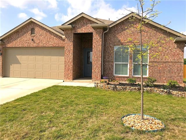 What a find!  New home feel with additional upgrades - home only 3yrs old.  This home has it all both inside and out!  3 bed / 2 bath, large open kitchen, water softener.  Covered patio with large wooden deck for day or nighttime ambience.  Extra large back yard backing to open green area.  Check out this one of a kind home in Hutto - small town feel with all the close amenities.  Easy access to 130 / I-35.  Don't miss a game or other entertainment at Dell Diamond just 7 miles away.