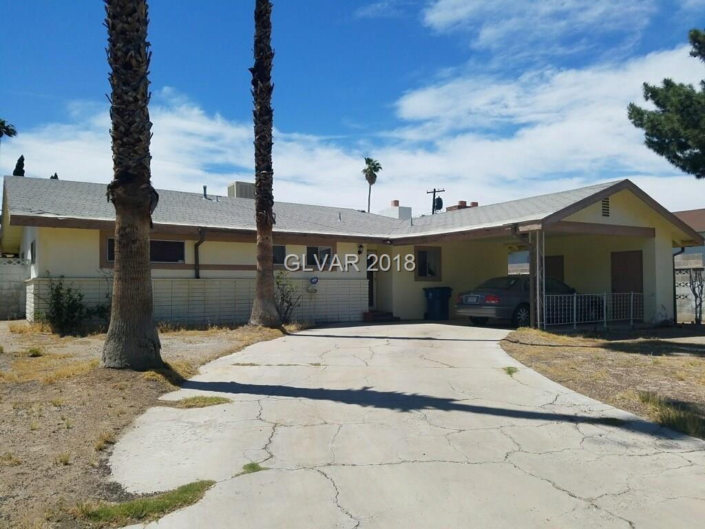 One story home with LARGE front yard AND backyard. NO HOA! 3 bedrooms plus a den. 2 full bath, POOL. Close to the Las Vegas Strip! Lots of potential! Great candidate for a renovation loan!