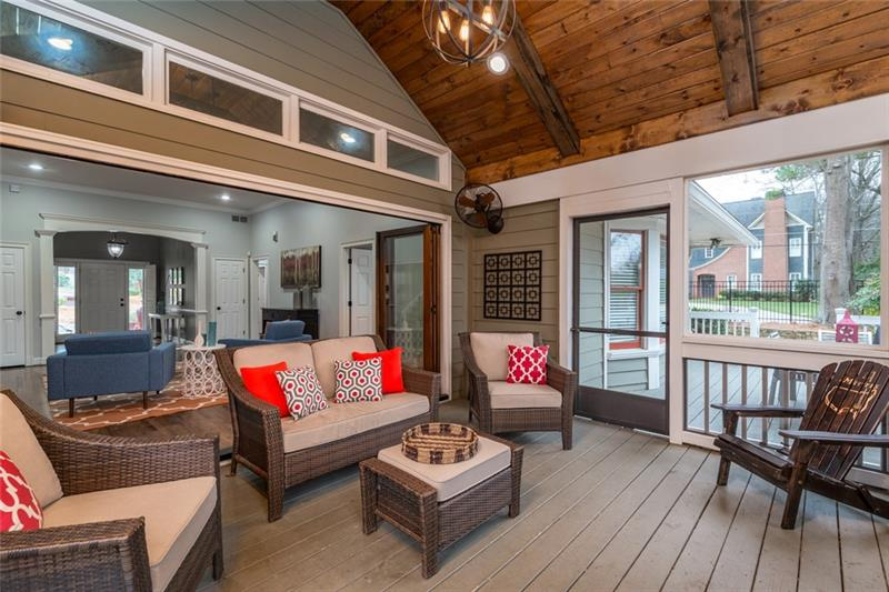 Professionally finished, full screened-in porch plus add'l deck space outside!