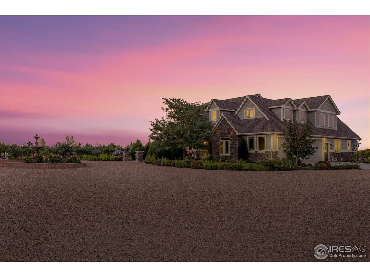 Immaculate Custom 5.14 acre Estate w/ stunning mountain views includes: hardwood floors, gourmet kitchen w/ granite counters, walk-in pantry, vaulted ceilings, and open floor plan. Gorgeous 5-piece bath in master retreat with separate his/her closets! This home boasts space & privacy backing to farmland, attached 3 car garage with separate 35x45 workshop/garage, professional landscaping w/ water feature, & garden oasis. Enjoy this private paradise from the 4 seasons room & custom patio!