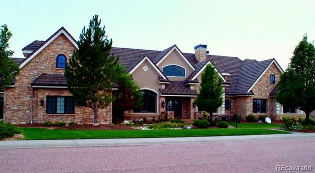 "Absolutely Stunning!!!  The Architecture exudes Elegance throughout this Sprawling Ranch-Style Custom Home deserving of the most Discerning of Buyers!   This ""one-of-a-kind"" home features: 7 Bedrooms; 10 Bathrooms; 5 Car Attached Garage with room for 2 Add'l Vehicles and an Attic Loft perfect for a Media Room, Man Cave or third Office; A Gourmet Chef's Kitchen includes Dual Islands, a Prep Sink, Built-in Refrigerator, Thermador Range/Oven with 6 Gas Burners and so much more.  This is an Entertainer's Dream Home!  From the minute you walk through the Front Entry Doors, you will be drawn in by the beauty of this home.  Double French Doors lead to an Expansive Covered Deck in back where one can relax with a glass of wine while overlooking the mountainous background or gazing at the stars.  This expansive home has approximately 11,042 Finished Square Feet and sits on 1.69 Acres backing to Open Space with Views of Pike's Peak.  Truly... an Amazing Property!"