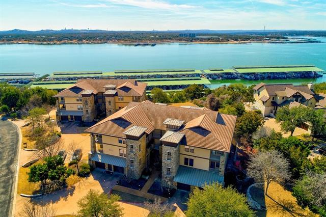 Charming villa located on the 3rd floor of the Marina Villas in the Hollows.  Spacious deck overlooking Lake Travis, total privacy.  Open floorplan with wall of windows.  Hollows amenities all close by with pools, marina, gym, grill, playground, kayak dock and miles of nature trails.