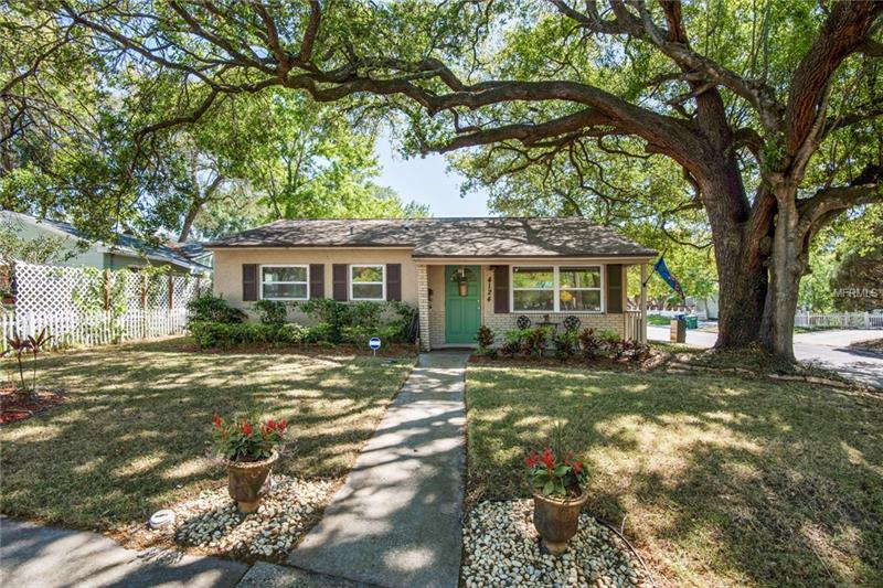 Looking for a delightfully updated ranch, just steps from one of South Tampa's favorite parks in the Mabry/Coleman/Plant school district?  We have the home for you!  With three bedrooms and two baths and plenty of entertaining space, this 1955 home will steal your heart.  The current owners have tackled the big items on your list: the roof, a.c., windows, master bath, & kitchen.  The best part, the home features an open concept living space and tastefully re-done kitchen complete with granite and stainless steel.  Need storage?  We've got that covered too.  With several extra closets and a massive walk-in closet in the master suite.  But wait there's more!  Don't forget the wine fridge and outdoor storage closet. You won't find storage like this in most 50's ranch homes!  Don't miss this gem, schedule your appointment today!