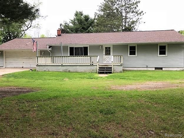 THERE ARE 2 HOMES ON THE PROPERTY THE HOME IN FRONT BY ROAD NEEDS A LOT OF WORK MUST SIGN A RELEASE BEFORE GOING IN, BOTH PORCHES ARE NOT TOTALLY SAFE. THERE ARE RACCOONS AND SQUIRRELS IN AND UNDER THE HOME.  THE ADDRESS IS 400 THE HOME IN FRONT BY ROAD IS 975 SQ FT 3 BED 1 BATH COULD BE A CUTE RENTAL.  THE HOME IN THE BACK OF PROPERTY NEEDS UPDATING BUT DOES HAVE WOOD FLOORS 3 BED 2 BATH AND A FULL BASEMENT BOTH SIT ON 15.05 ACRES TOTAL.   THE ADDRESS IS 404