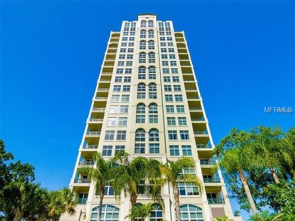 Enjoy fabulous 270 degree panoramic views of magnificent Bayshore and Tampa Bay! The Stovall features private elevators, on-site security personnel and views of Davis Islands and Downtown. This traditional styled unit features gorgeous Brazilian cherry hardwood floors throughout, beautiful wainscoting and crown molding, living room with marble gas fireplace, kitchen opening directly to family room, large separate dining room with tray ceiling, a large master suite with SEPARATE his and her full bathrooms and large walk-in closets with built-ins. Ample storage with a large storage closet accompanied by a full laundry room and a separate caged storage unit on the second floor. The second bedroom is currently being used as an office with built-in drawers and shelves. Two lovely terraces allow wonderful views of sunrise and sunset. Community features a refreshing pool overlooking the Bayshore, guest suites to accommodate family and out-of-town guests, fitness center, recreation room with kitchen and library/study.